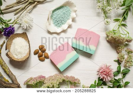 Natural Organic Soap. Ecological Cosmetics. Eco Body Care