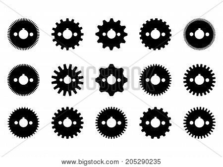 gear collection machine gear.isolate on white.set of gear.
