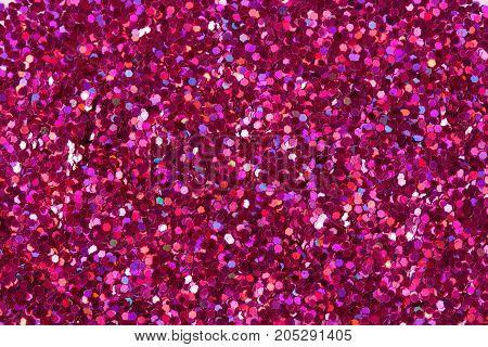 Crimson glitter shiny background. High resolution photo.
