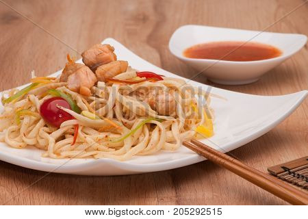 Noodles In A Plate