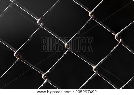 background of old metal grid . Photo as an abstract background