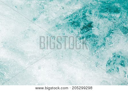 background of stormy blue water . In a park in the nature