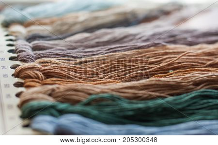 Set Of Colored Threads