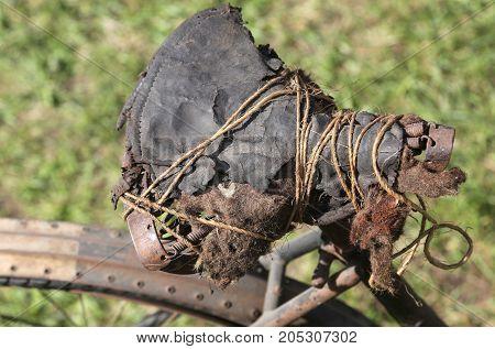 Broken Saddle Of An Old Bike