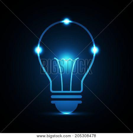 Technology Future Light Bulb Put