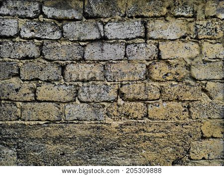 Cinder block wall texture background. Abstract grunge background
