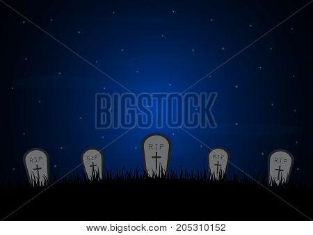 Halloween Gravestone Graveyard Background