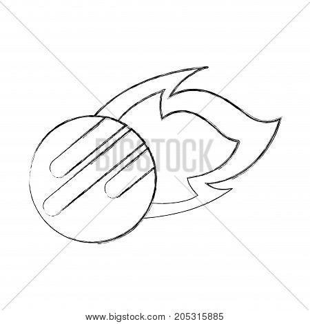 asteroid rock falling science meteorite nature vector illustration