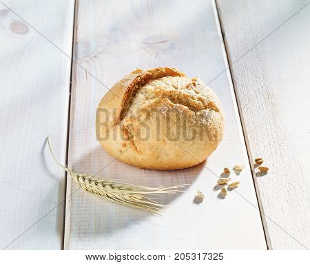 Fresh rolls bread rolls on white isolated background