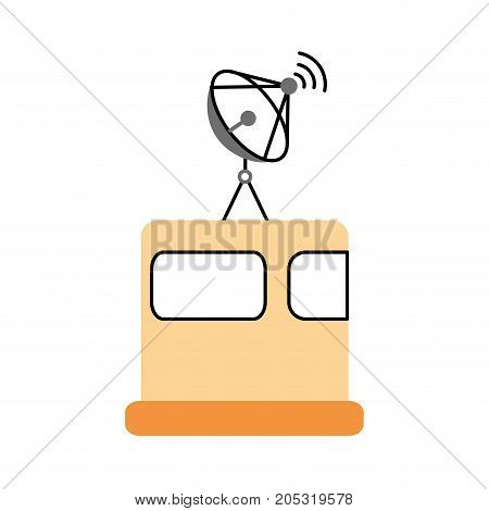 satellite broadcasting dish equipment discovery vector illustration