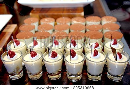 close up dessert and bakery in wedding party