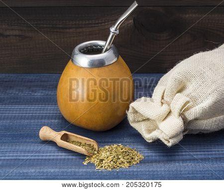 yerba mate drink. traditional latin american drink