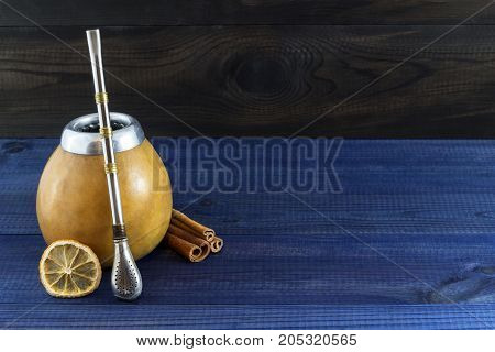 yerba mate drink. traditional latin american drink