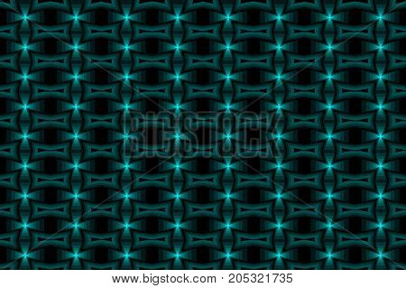 Cross - abstract vector pattern - blue