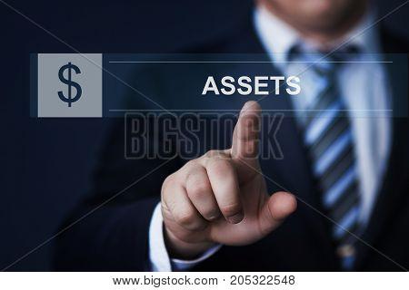 Assets Management Business Investment Technology Internet concept.