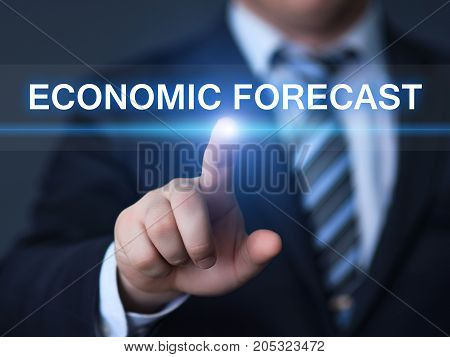 Economic Forecast Finance Analysis Business Internet Technology Concept.