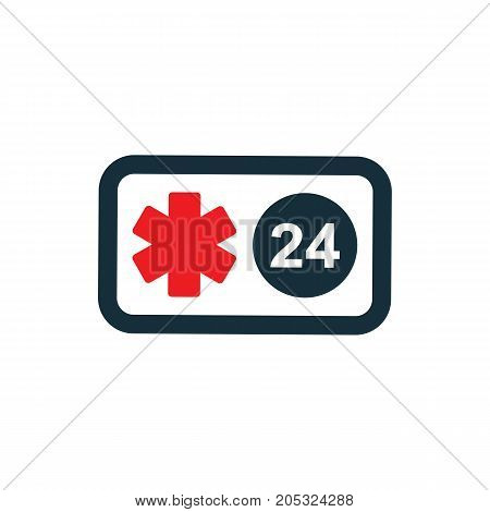 Medical Emergency Phone All Day Nonstop Icon