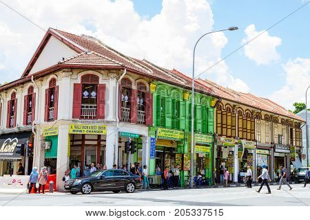 Colonial Architecture Near Arab Street, Singapore