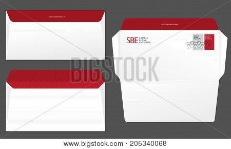 Sample Of A Custom Business Envelope Design