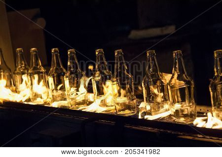 Production Of Glass Bottles