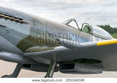 Air Show Spitfire Mk Xvi Airplane Flying
