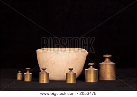 Mortar And Weights
