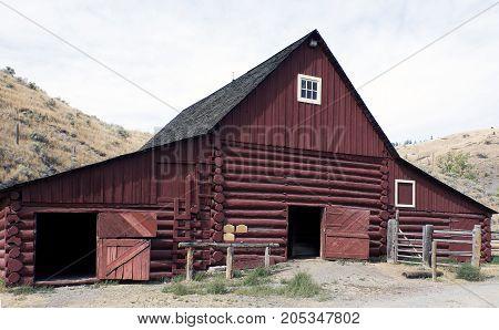 Three bay barn, built 1893 in British Columbia