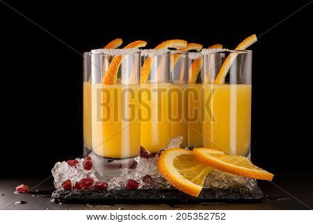 Beverages On A Dark Background