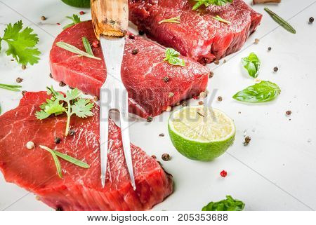 Beef Steaks With Spices
