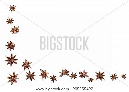 Star anise isolated on white background. Spice.