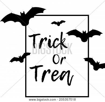 Vector bats on the white background. - stock vector