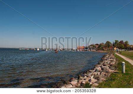 coastline of Presto in Denmark on a sunny day