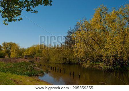 Tubaek River In The Town Of Praestoe In Denmark