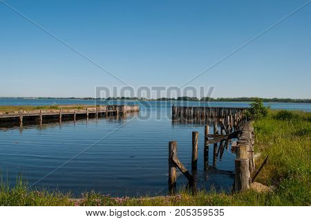 petersvaerft harbor in Denmark on a summer day