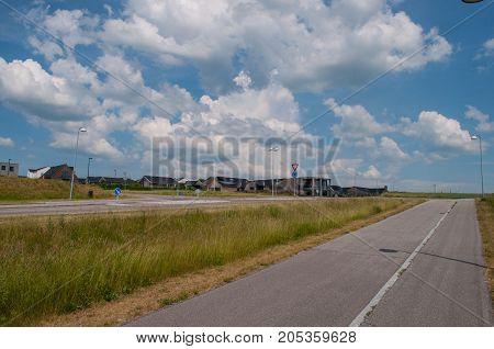 Road in suburbs of Naestved in Denmark