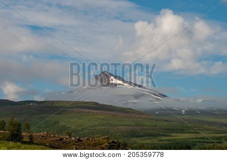 Sulur mountain near Akureyri in North Iceland