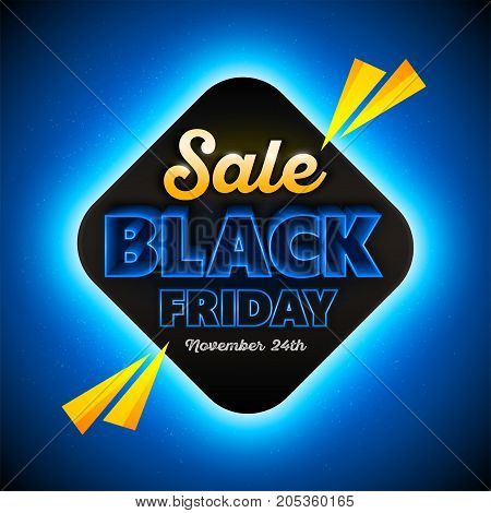 Black Friday sales background template, special offer, end of season. Vector illustration