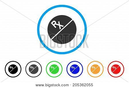 Medication Tablet rounded icon. Style is a flat medication tablet gray symbol inside light blue circle with black, gray, green, blue, red, orange variants.