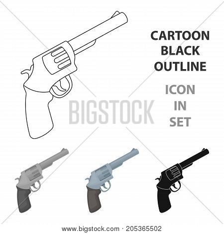 Pocket revolver. The weapons detective, for protection from robbers.Detective single icon in cartoon style vector symbol stock web illustration.