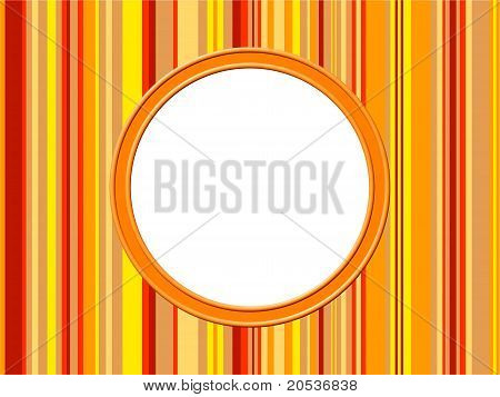 Orange Stripes Border