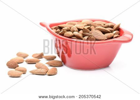 a lot of almonds and white red