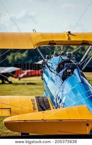Stearman biplane at the 2016 Flying Circus Airshow in Bealeton Virginia