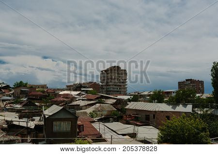 Historical District of Yerevan, Armenia. horizontal day shot