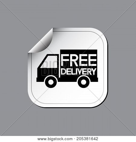 Free delivery label or sticker. Vector illustration