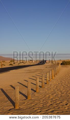 Wooden bump in the reserve UNESCO. Desert, Spain