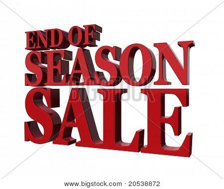 End Od Season Sale.