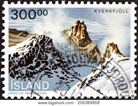 ICELAND - CIRCA 1991: A stamp printed in Iceland from the