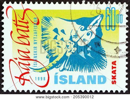 ICELAND - CIRCA 1998: A stamp printed in Iceland from the