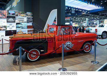Bangkok Motor show Thailand - April 062017 : Chevrolet motor show booth.