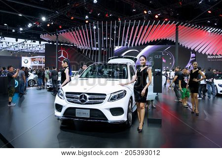 Bangkok Motor show Thailand - April 062017 : Mercedes-Benz motor show booth.
